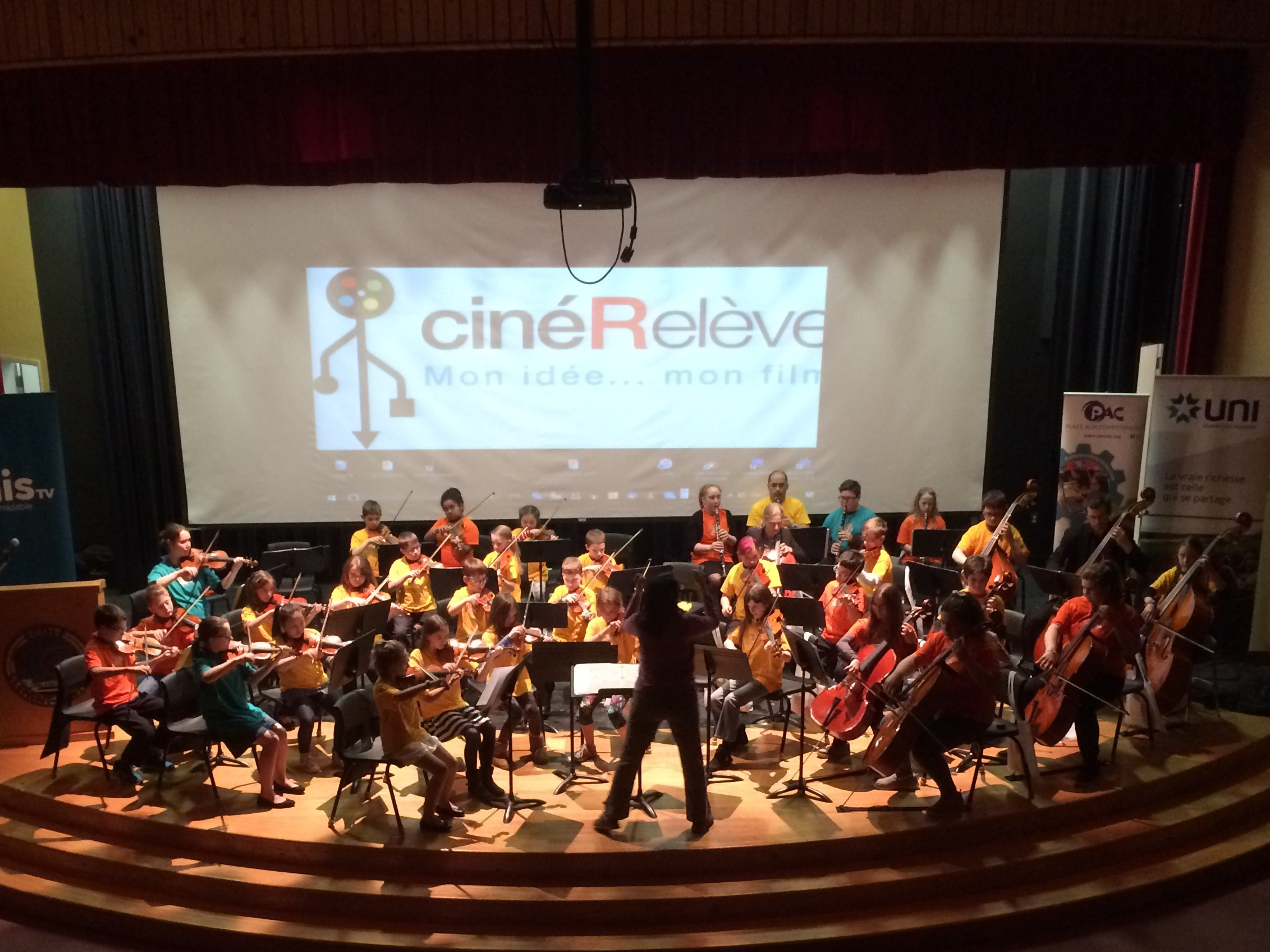 Sistema NB Richibucto Children's Orchestra performed at the 4th CinéRelève Festival on Friday, May 5, 2017 in Bouctouche.