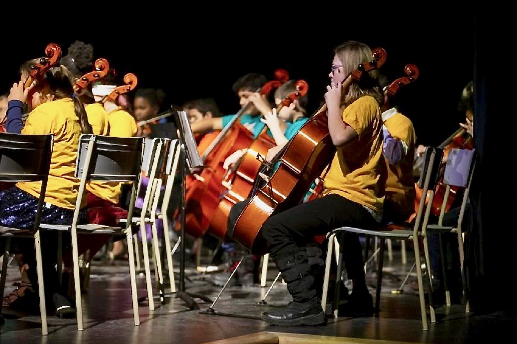 Under the direction of Natalia Bohorquez and Carlos Armao, the Sistema Miramichi students celebrated the holidays Friday with a mix of classical pieces and festive specials during the annual Sistema Miramichi Holiday Concert.  Photo: Justin Samanski-Langille/Miramichi Leader