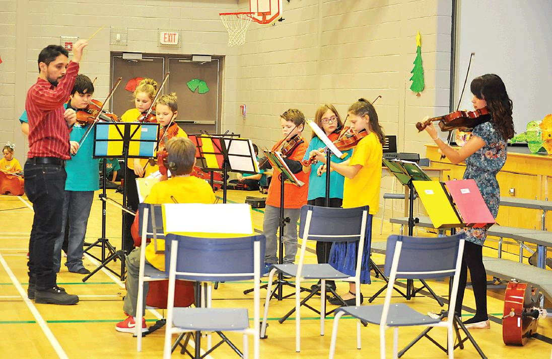 The experienced young Sistema NB Tobique Centre performers wowed the Christmas concert audience with an accomplished performance on Dec. 14.  PHOTO: CORINNE FITZHERBERT/THE VICTORIA STAR